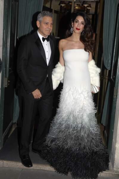 Amal et George Clooney à la cérémonie des César 2017