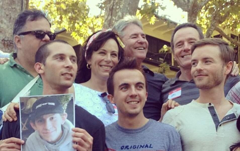 En 2012, lorsque le casting s'est réuni, Justin Berfield portait sa photo
