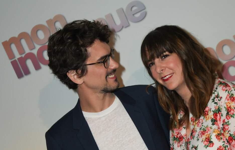 Hugo Gélin et sa femme Nina Rives à l'avant-première de Mon Inconnue au cinéma UGC Normandie, le 1er avril 2019