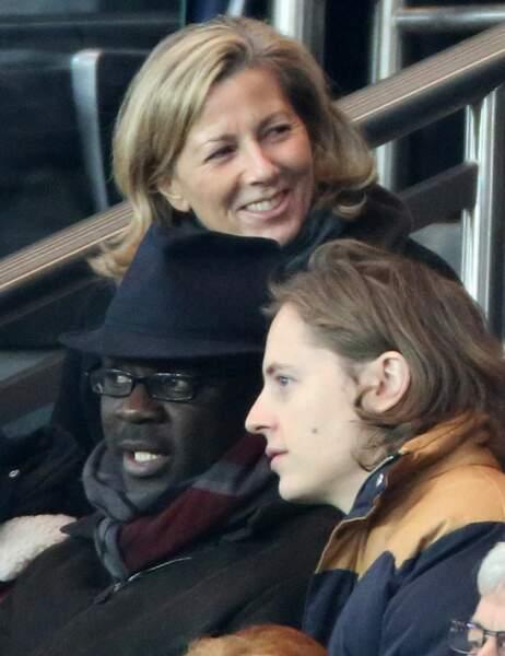 Claire Chazal derrière Lilian Thuram et Pierre Sarkozy
