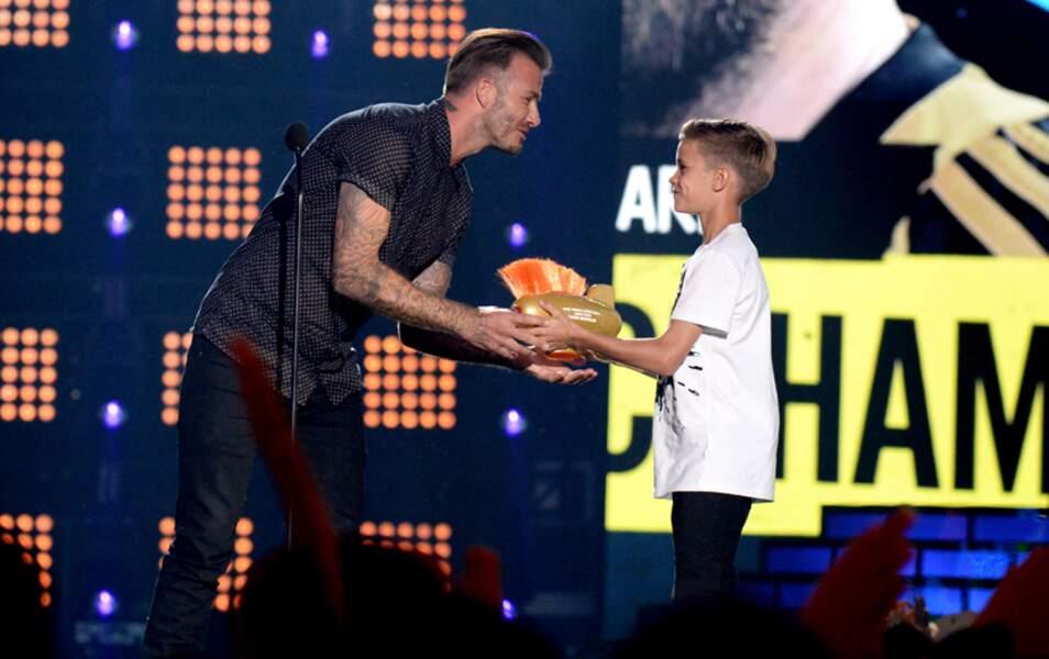 David Beckham a reçu un prix pour sa carrière sportive