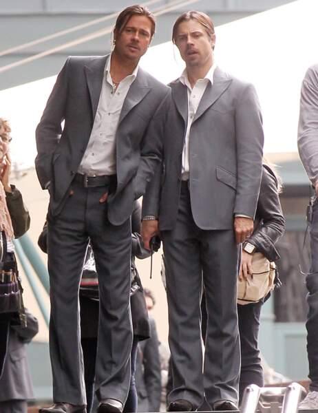 Brad Pitt et sa doublure dans The Counselor