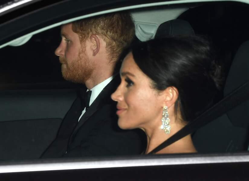 Le prince Harry et Meghan Markle à l'anniversaire du prince Charles