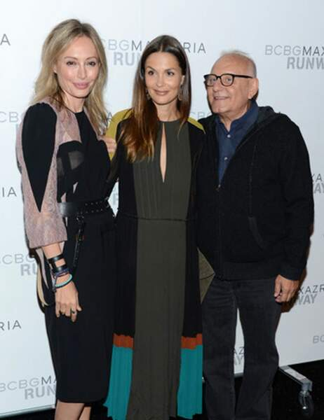 Max et Lubov Azria avec Barbara Schultz