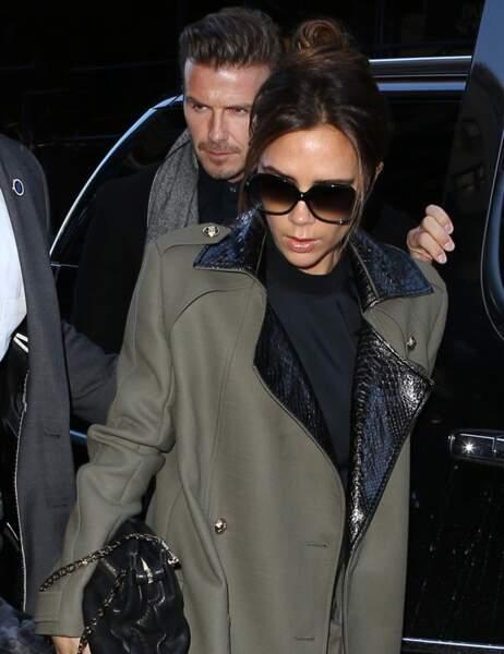 Victoria et David Beckham arrivent pour le défilé de dVb