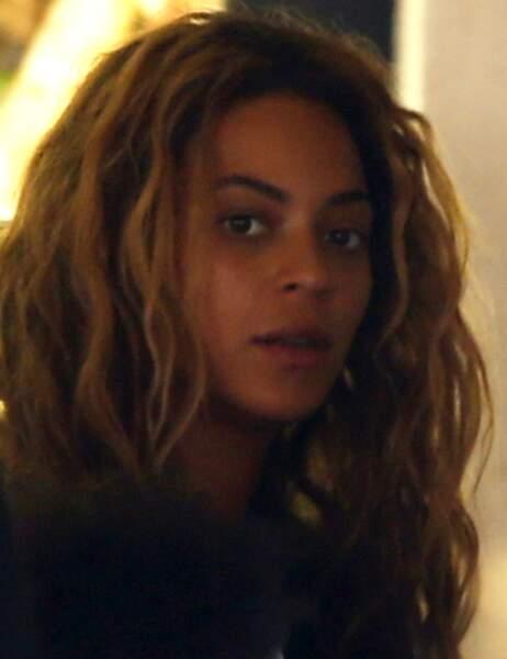 Beyoncé dans un restaurant à Paris