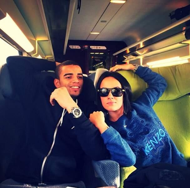 Brahim Zaibat et Alizée dans le TGV