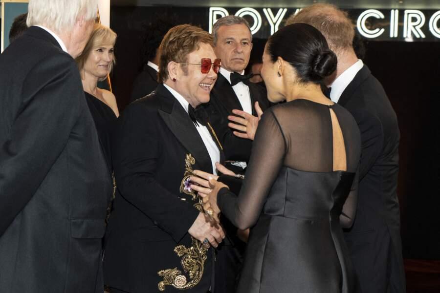 Meghan, Harry et Elton John