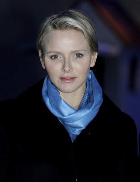 Pour l'occasion, Charlène a sorti le foulard bleu