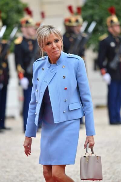 L'arrivée de Brigitte Macron