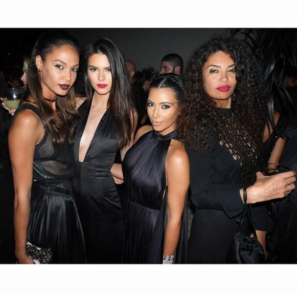 Joan Smalls, Kendall Jenner, Kim et le top Afef Jnifen