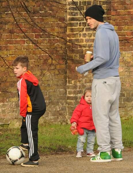 David, Cruz et Harper Beckham
