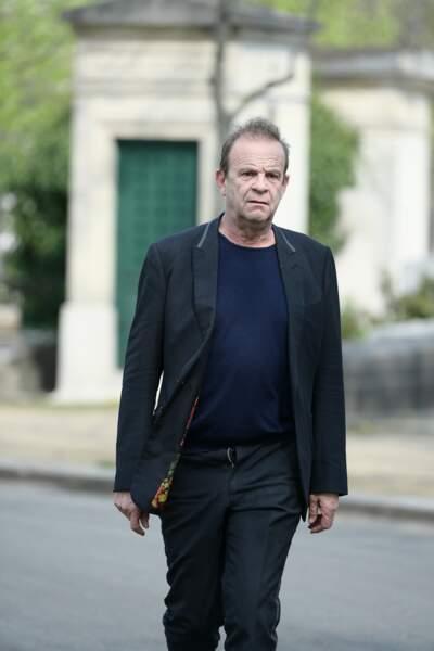 François Marie Banier aux obsèques d'Agnès Varda au cimetière du Montparnasse