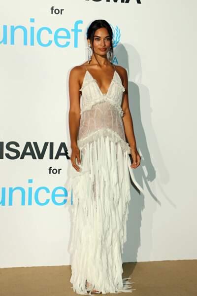 Shanina Shayk, au gala de l'UNICEF en Sardaigne, le 10 août 2018