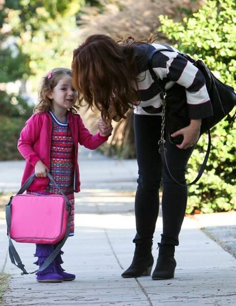 Alyson Hannigan et sa fille