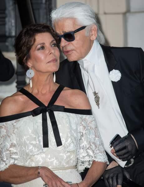 Et Karl Lagerfeld pour Caroline de Hanovre