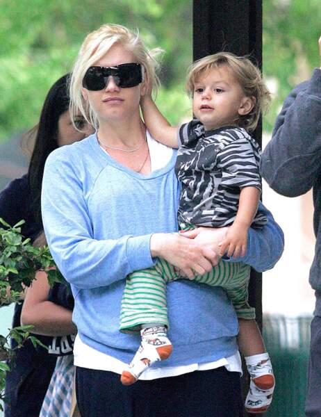 Gwen Stefani et son fils Kingston petit...
