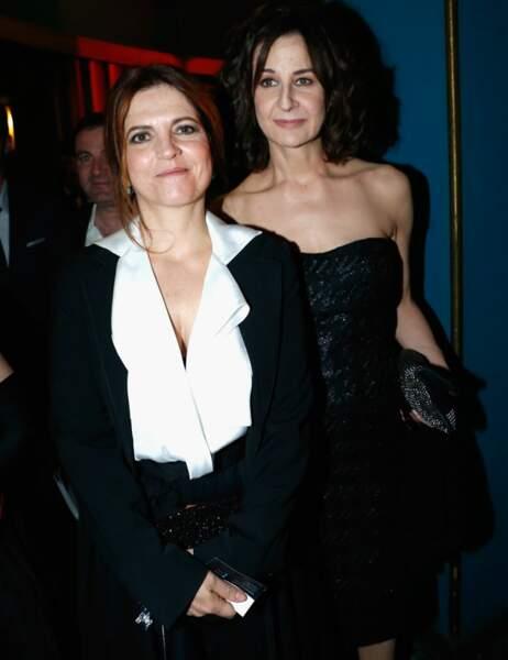Les comédiennes Agnès Jaoui et Valérie Lemercier