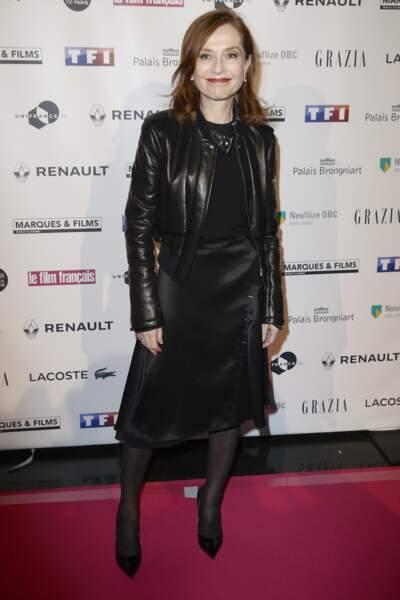 Isabelle Huppert et sa fille Lolita Chammah radieuses aux Trophées du film français