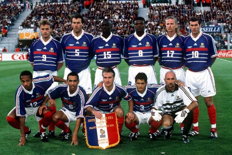 L'Equipe de France lors de la finale de la Coupe du Monde 1998