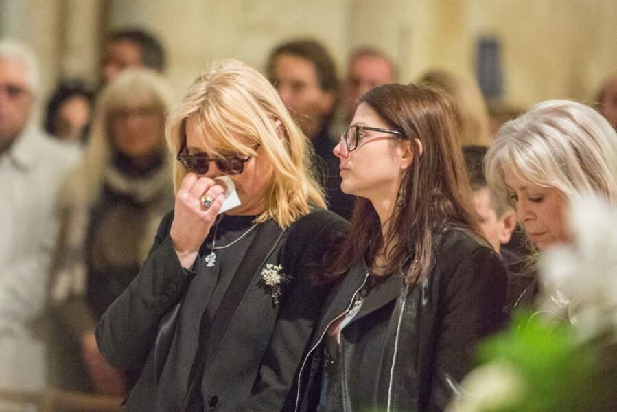 Natala Rivers aux obsèques de Dick Rivers à Paris