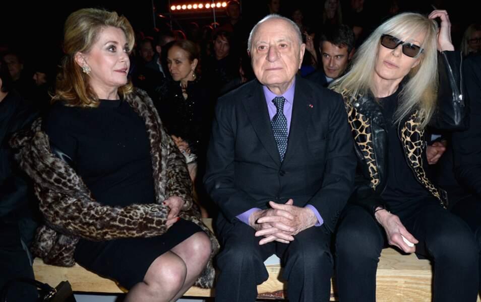 Catherine Deneuve, Pierre Bergé et Betty Catroux