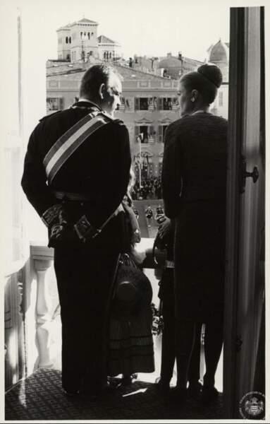 La famille princière lors de la fête nationale de 1962