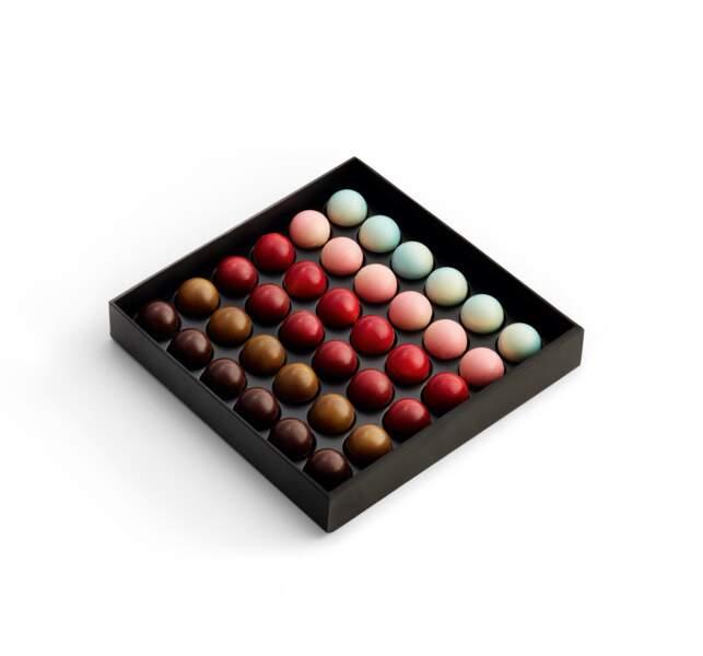 Notre sélection de cadeaux pour homme : Coffret chocolat Les Planètes, Pierre Marcolini, 39 euros