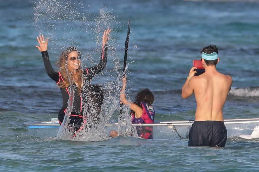 Mariah Carey en vacances à Saint-Barthélemy