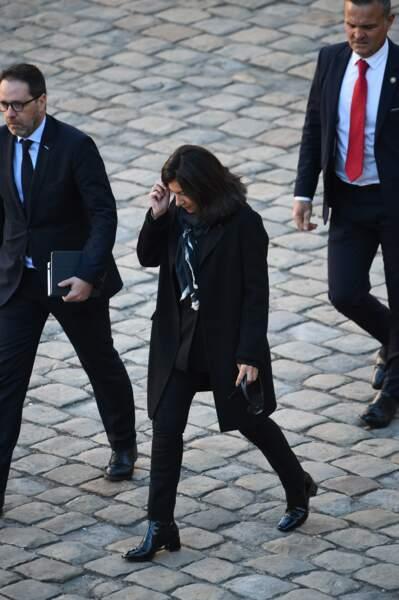 Anne Hidalgo à l'hommage national à Charles Aznavour