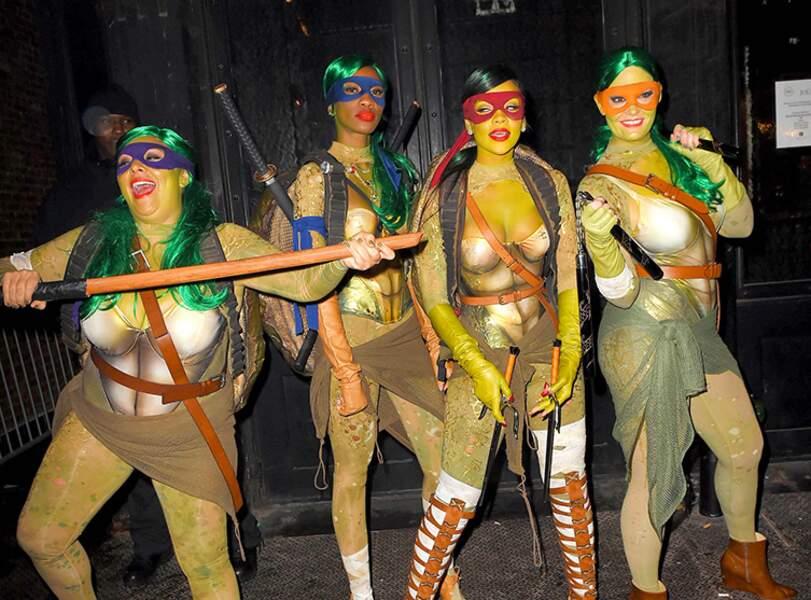Rihanna déguisée en Tortue Ninja