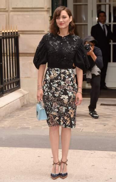 Défilé Christian Dior haute couture 2016-2017 : Marion Cotillard