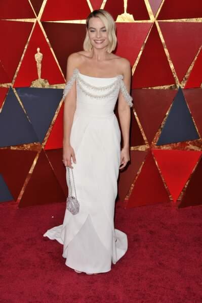 Greta Gerwig à la 90e cérémonie des Oscars, à Los Angeles le 4 mars 2018