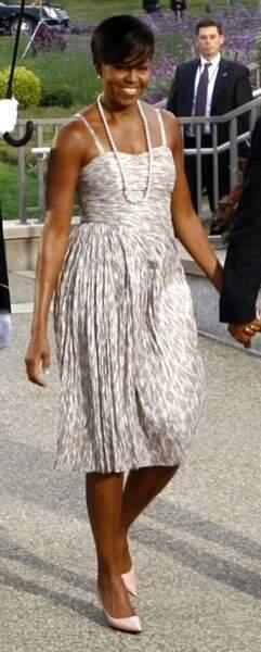 Michelle Obama en mode 50's : joli !