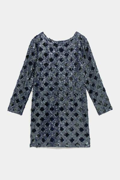 Robe à paillettes, Zara, 49,95€