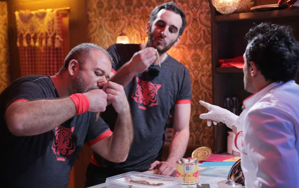 Les garçons ont pu goûter à la cuisine de Willy Rovelli