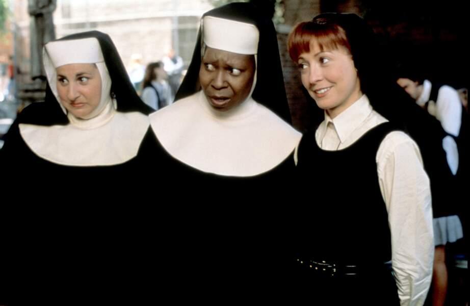 Elle donnait la réplique à sœur Marie-Patrick (à gauche) et à sœur Marie-Robert (à droite)