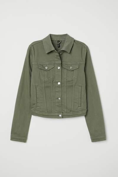 Veste en jean kaki, H&M, 24,99 euros
