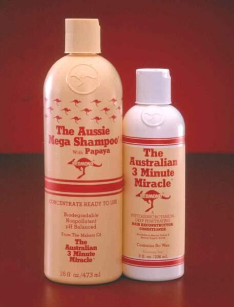 The Aussie Mega Shampoo, le 2eme produit inventé par Tom Redmond, à base d'enzimes naturels