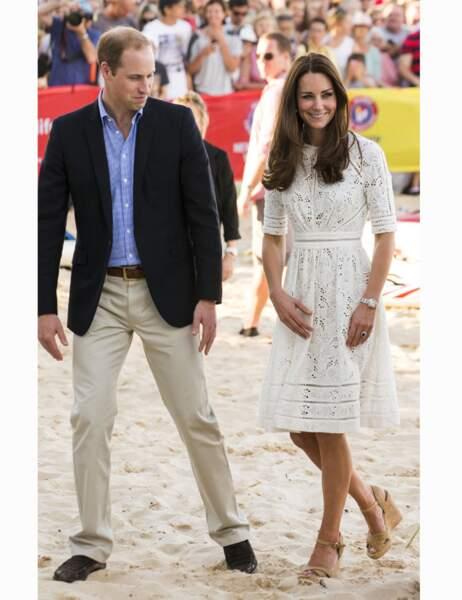 Kate et William visitent la plage de Manly à Sydney