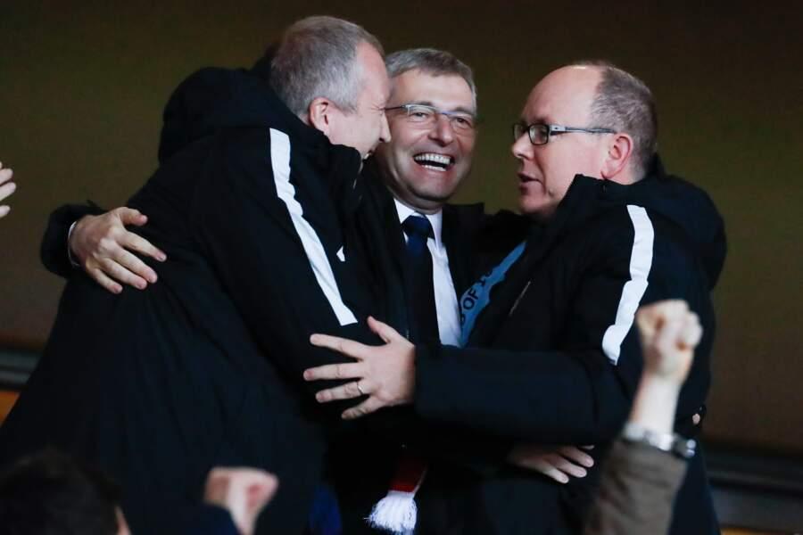 AS Monaco vs Manchester City : Prince Albert II de Monaco célèbre la victoire de son club