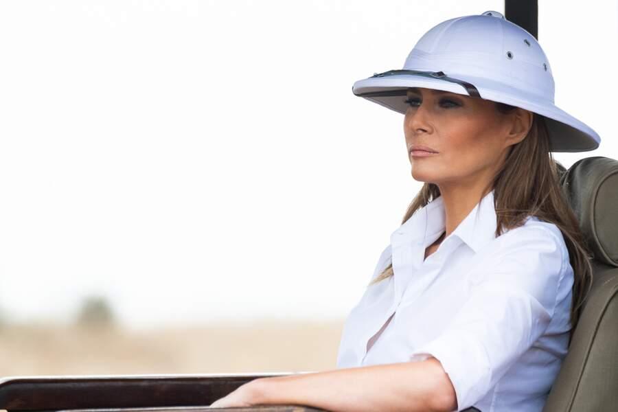 Melania Trump a porté un casque colonial