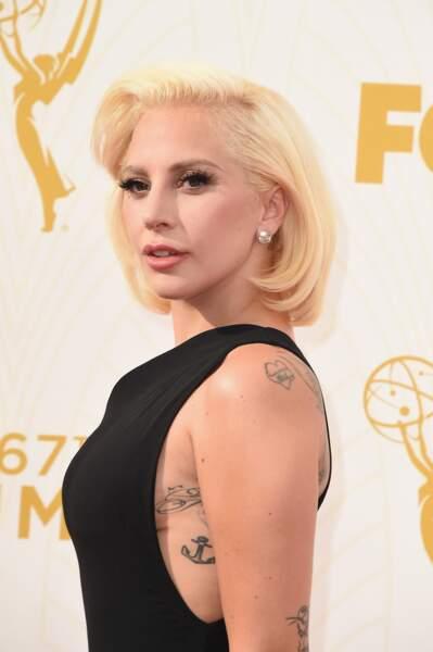 Le tatouage ancre marine de Lady Gaga