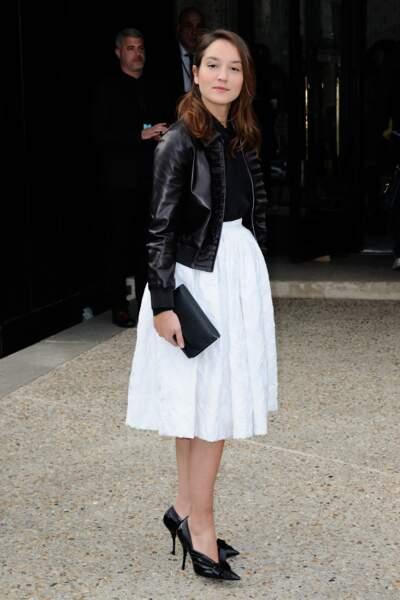 Anaïs Demoustier adorable en jupe couture et perf'