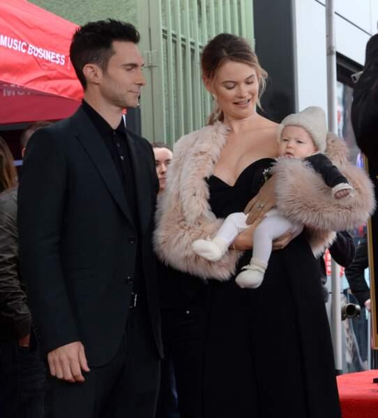 Le couple est bien sûr venu avec leur petite fille, Dusty Rose