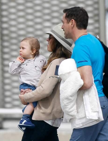 Robert Downey Jr, sa femme Susan et leur fils Exton
