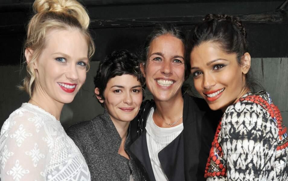 January Jones, Audrey Tautou, Isabel Marant et Freida Pinto