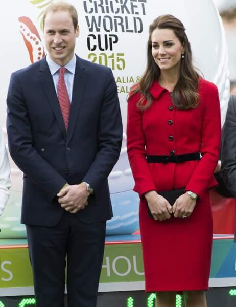 Le duc et la duchesse de Cambridge étaient ce matin à Christchurch pour parler de la Coupe du monde de Cricket 2015