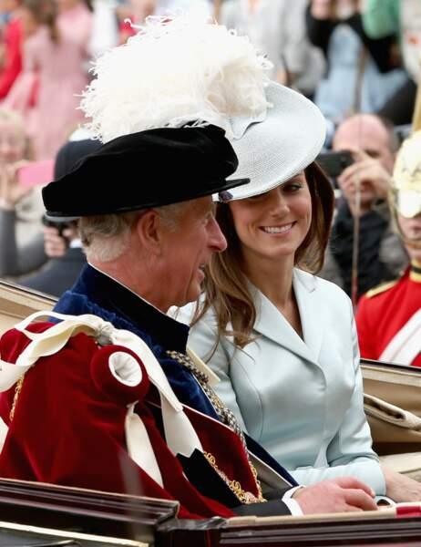 Au retour de la messe, Kate partage la calèche avec beau-papa