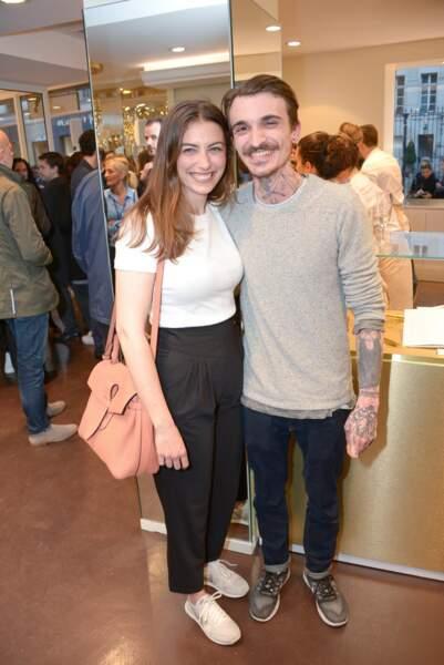 Paloma Coquant et Guillaume Sanchez à la soirée d'ouverture de la boutique Carte d'or